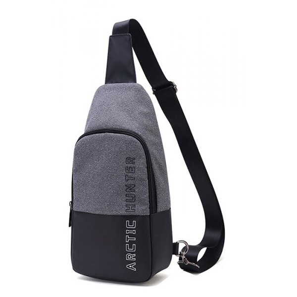 ARCTIC HUNTER τσάντα Crossbody XB0058-DG, αδιάβροχη, σκούρο γκρι