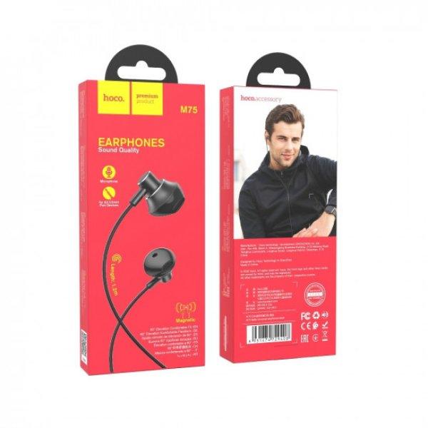 Hoco M75 Belle Handsfree Ακουστικά με Ενσωματωμένο Μικρόφωνο - Black
